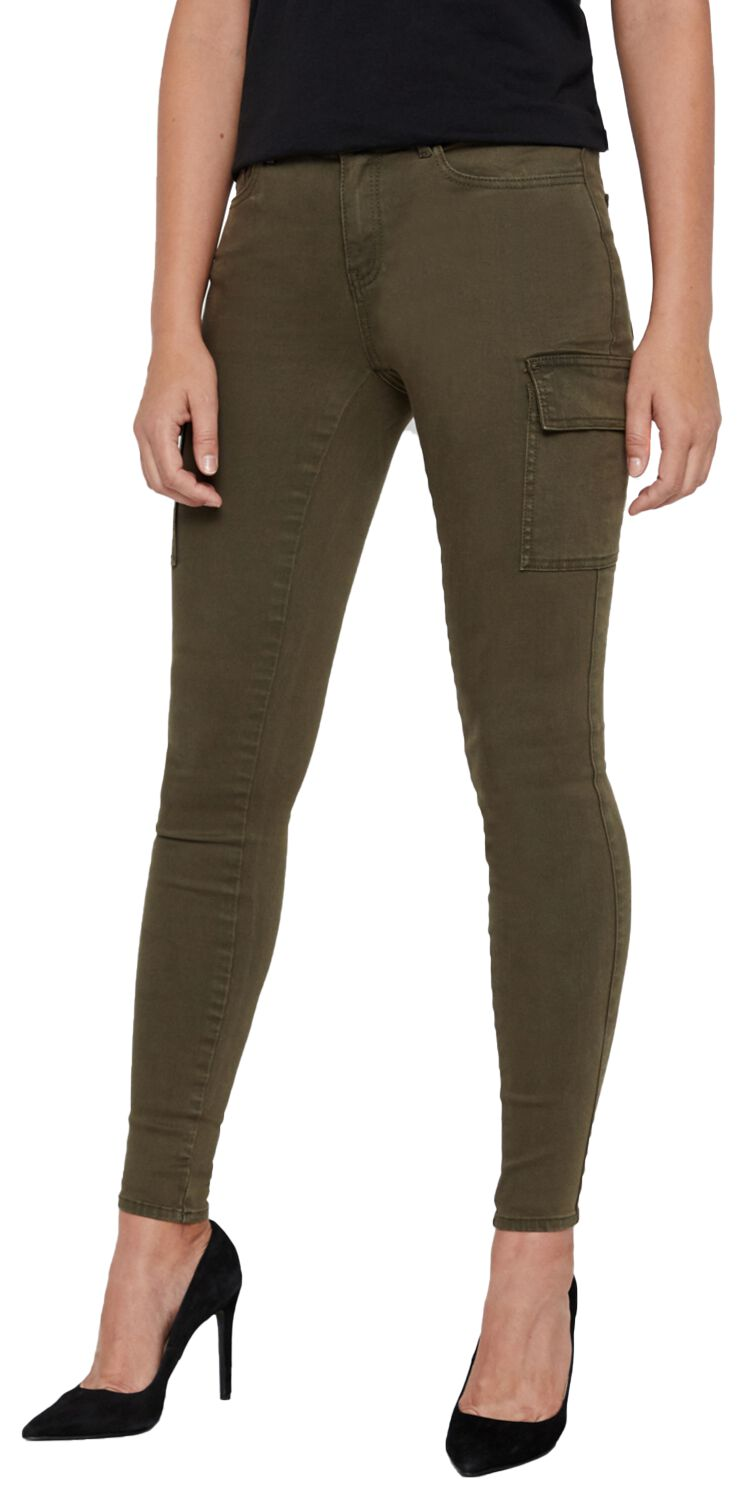 Image of Noisy May Lucy NW Utility Pants Cargopant oliv
