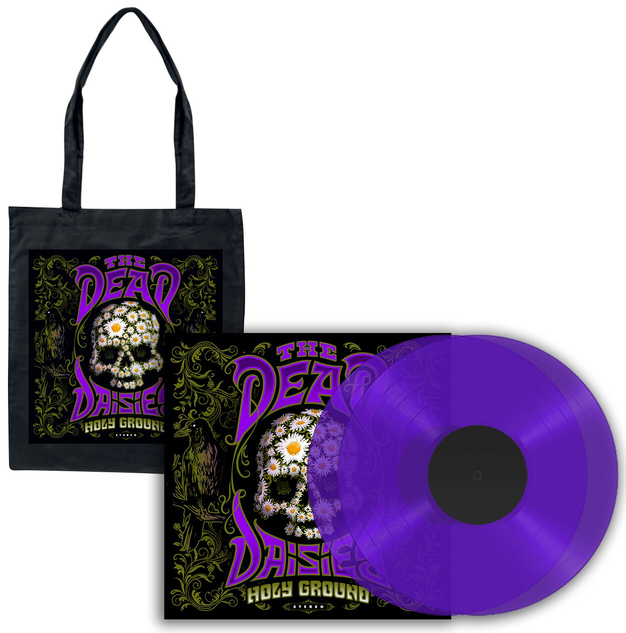 Image of The Dead Daisies Holy ground 2-LP & Stofftasche violett