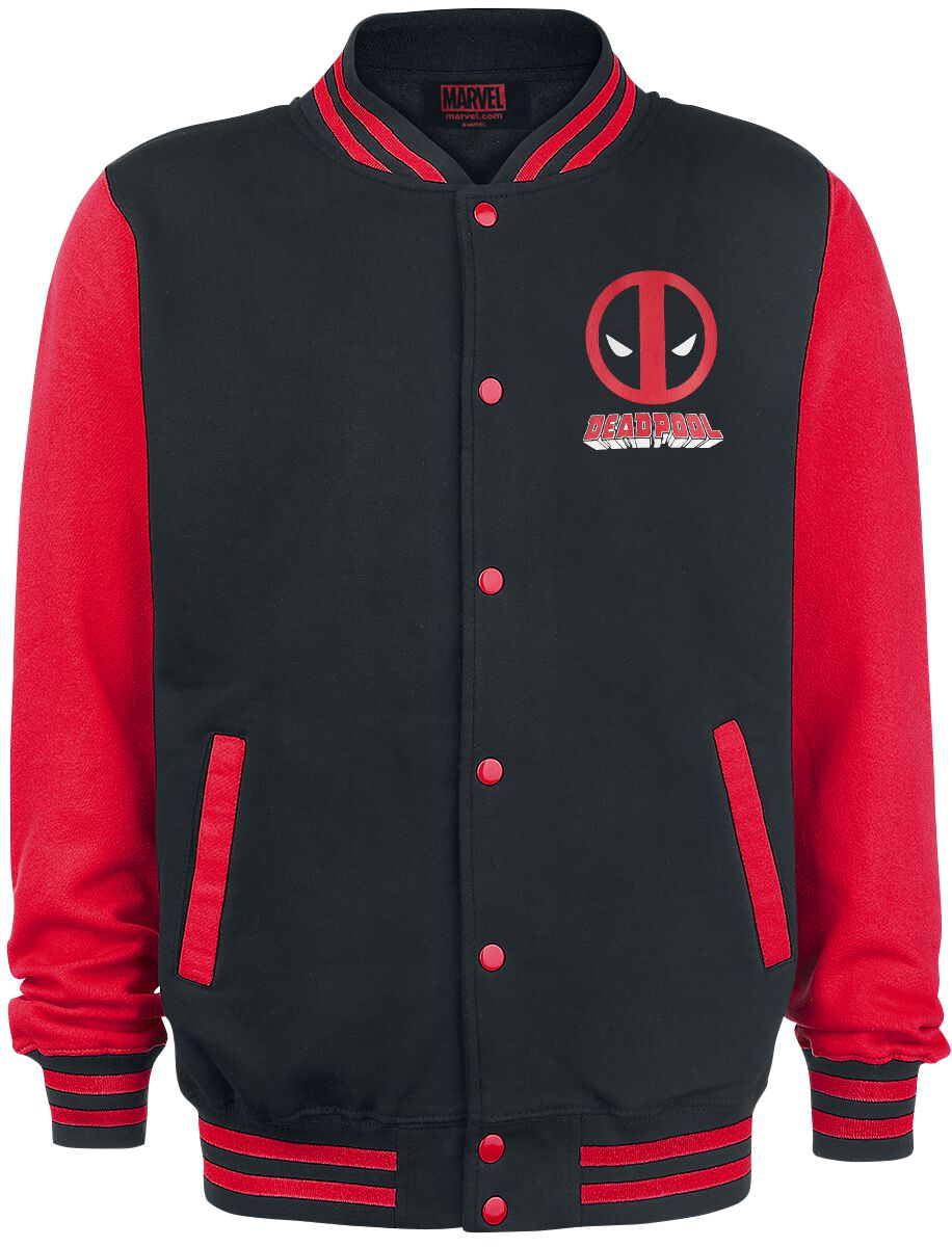 Image of Deadpool Face College-Jacke schwarz/rot