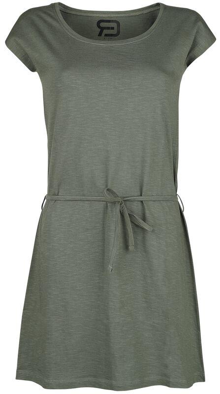 Olivfarbenes kurzes Kleid