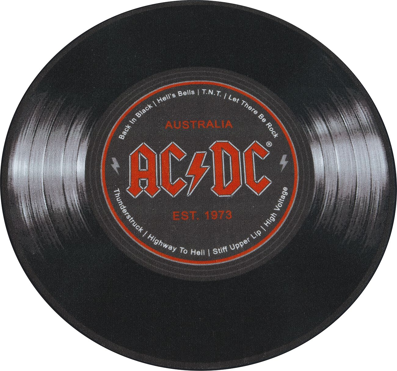 AC/DC Schallplatte Teppich schwarz 100844