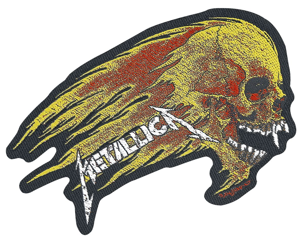Metallica  Flaming Skull  Patch  multicolor