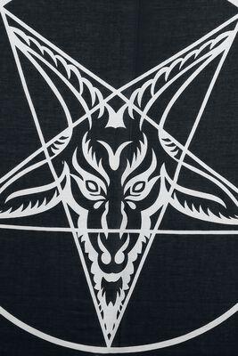 Pentagramm Ocult Halstuch