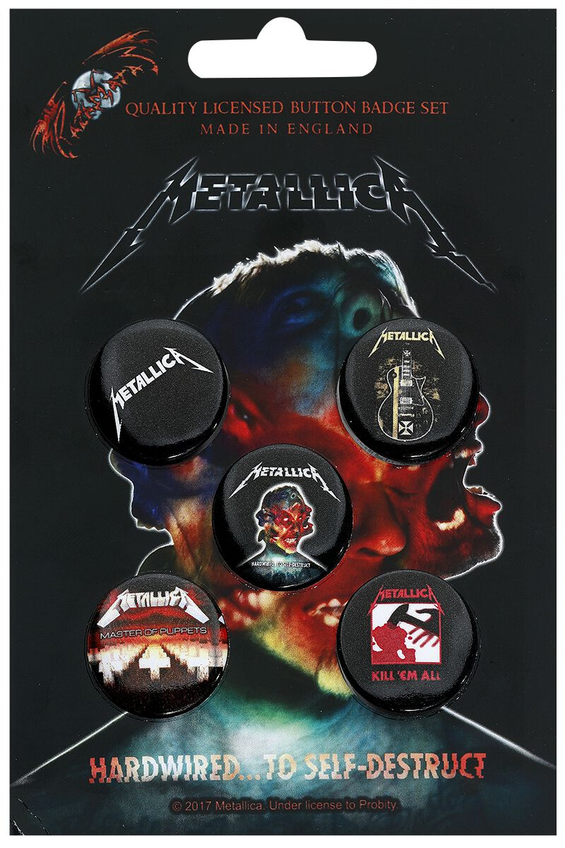 Image of Metallica Mix Button-Pack multicolor