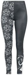 Schwarze Leggings mit detailreichem Print