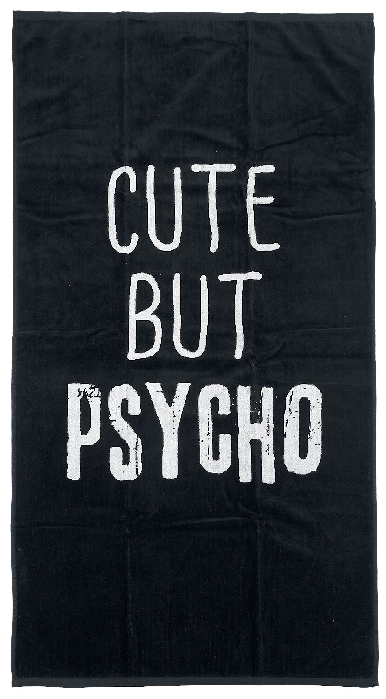 Cute But Psycho   Handtuch  Standard