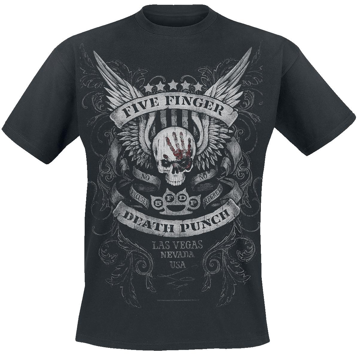 Five Finger Death Punch - No Regrets - T-Shirt - black image