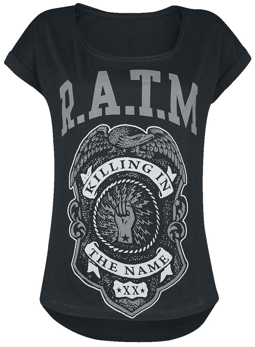 Rage Against The Machine - Police Badge - Girls shirt - black image