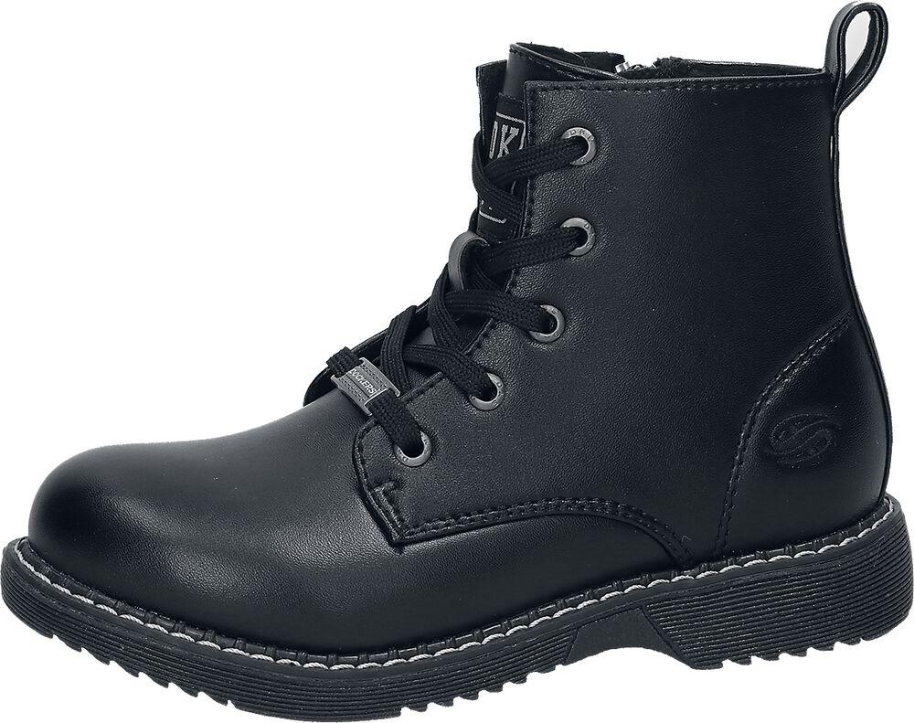 Patent Black Boots