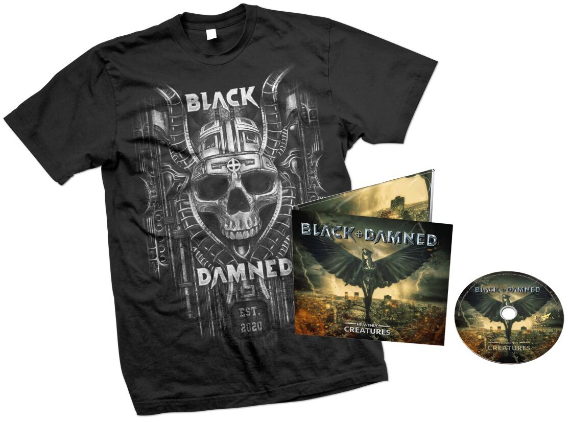 Image of Black & Damned Heavenly creatures CD & T-Shirt Standard