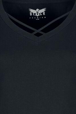 Langarmshirt mit Zierbändern