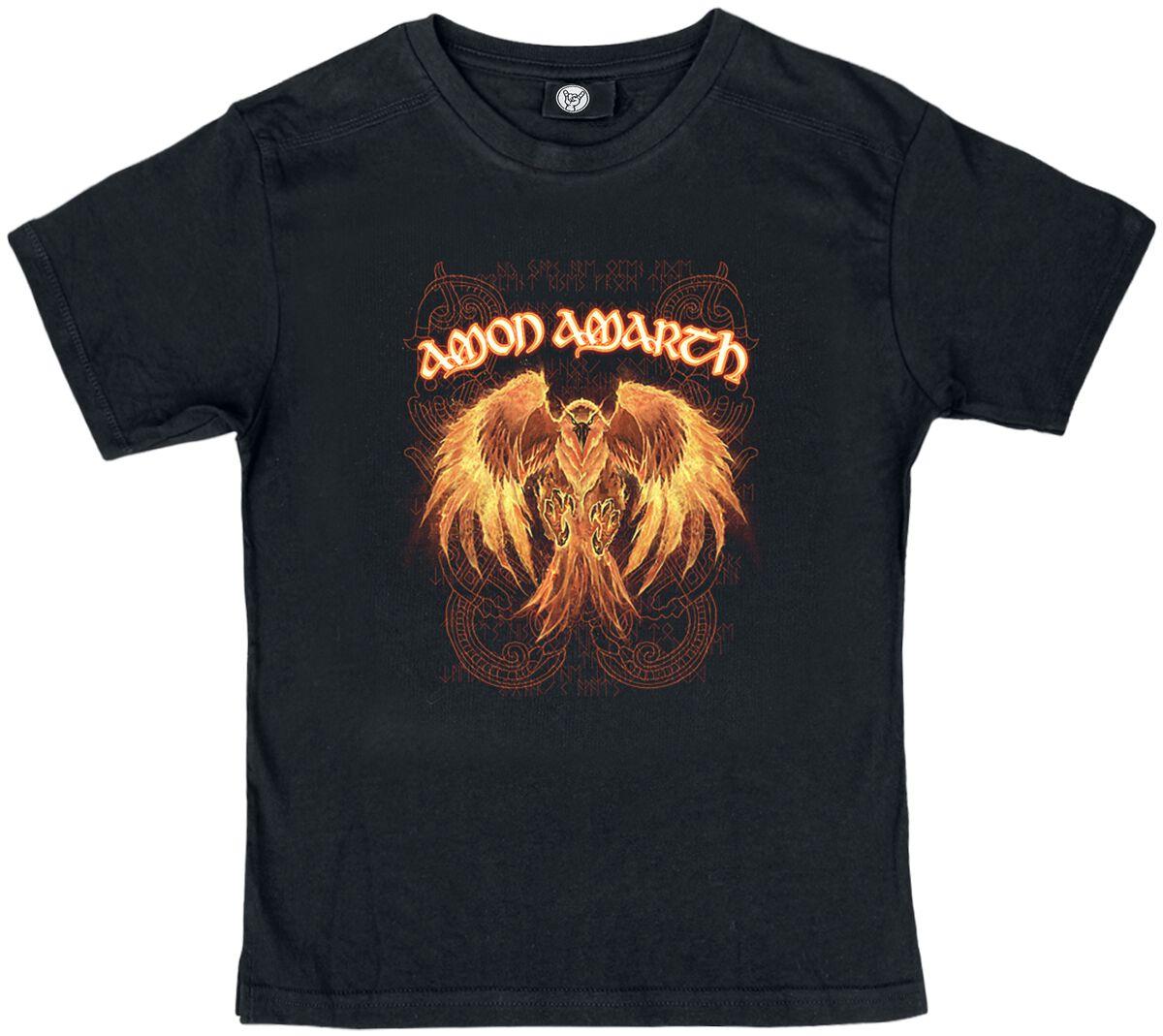 Image of Amon Amarth Burning Eagle Kids Kinder-Shirt schwarz