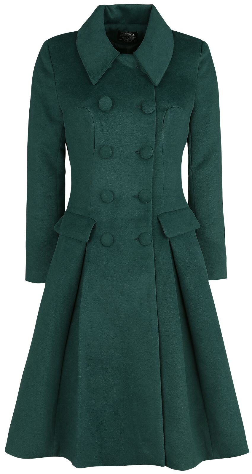 Jacken - H R London Evelyn Swing Coat Mantel grün  - Onlineshop EMP