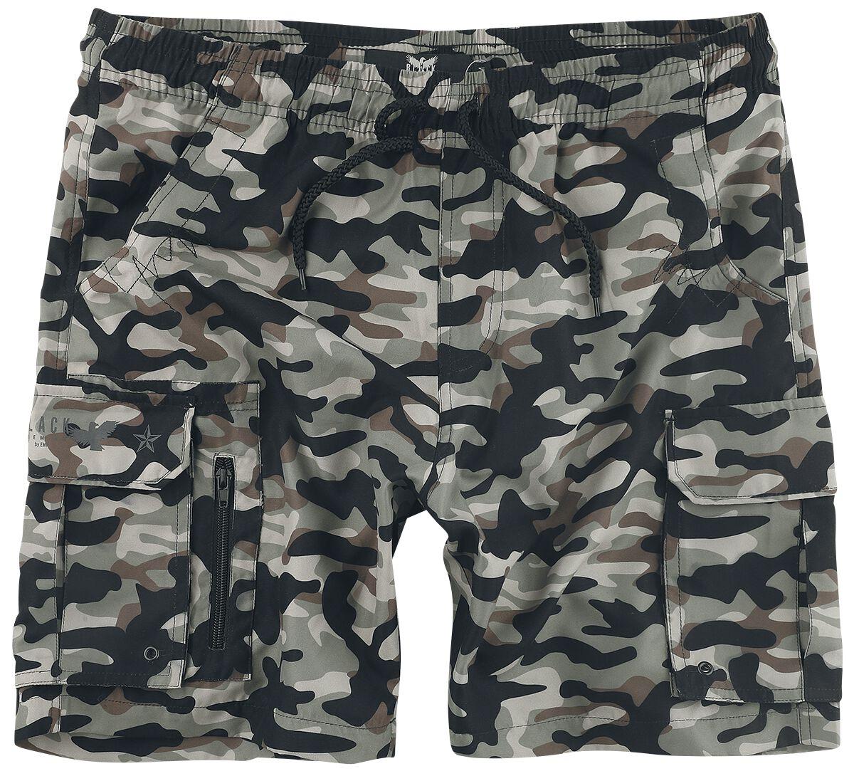 Black Premium by EMP Badeshorts mit Camouflagemuster und Taschen Short camouflage M408348