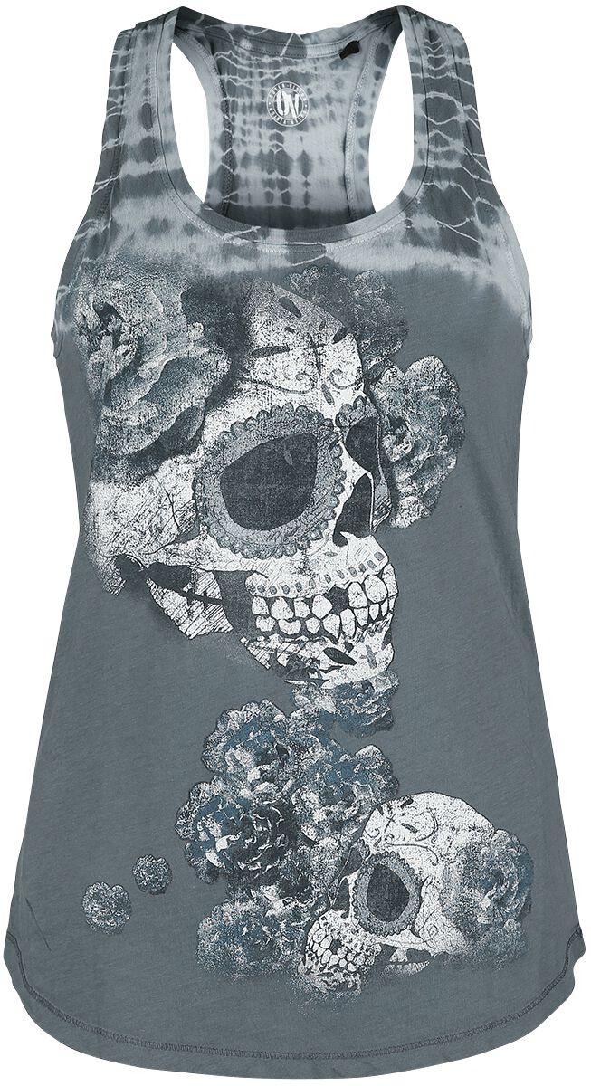 Outer Vision Los Muertos Tank-Top hellblau 2842-OV Woman's Top Davos Los Muertos Fold Tie Dye