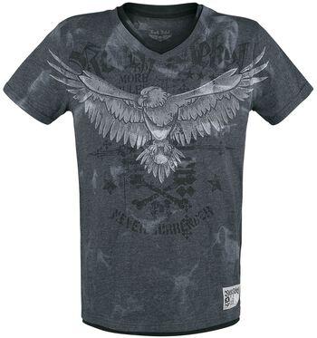 T-Shirt mit Print und V-Ausschnitt