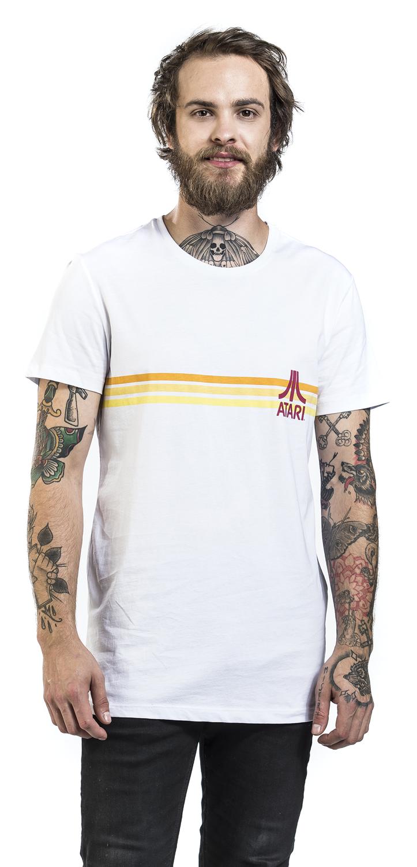 Image of Atari Striped Logo T-Shirt weiß
