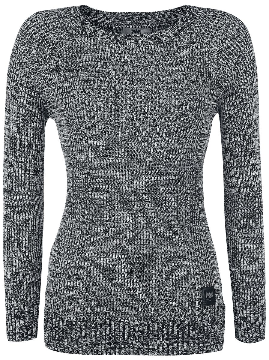 Image of Black Premium by EMP Feel Me Pullover donna nero/bianco
