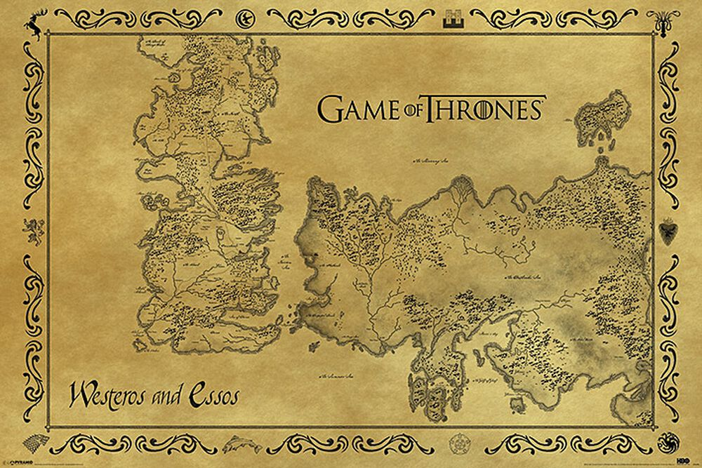 Game Of Thrones Karte Als Poster Emp