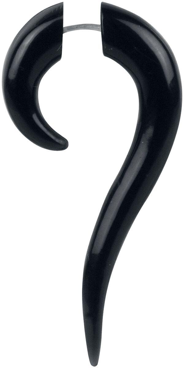 Ohrringe - Wildcat Buffalo Horn Serpentina Ohrstecker schwarz  - Onlineshop EMP