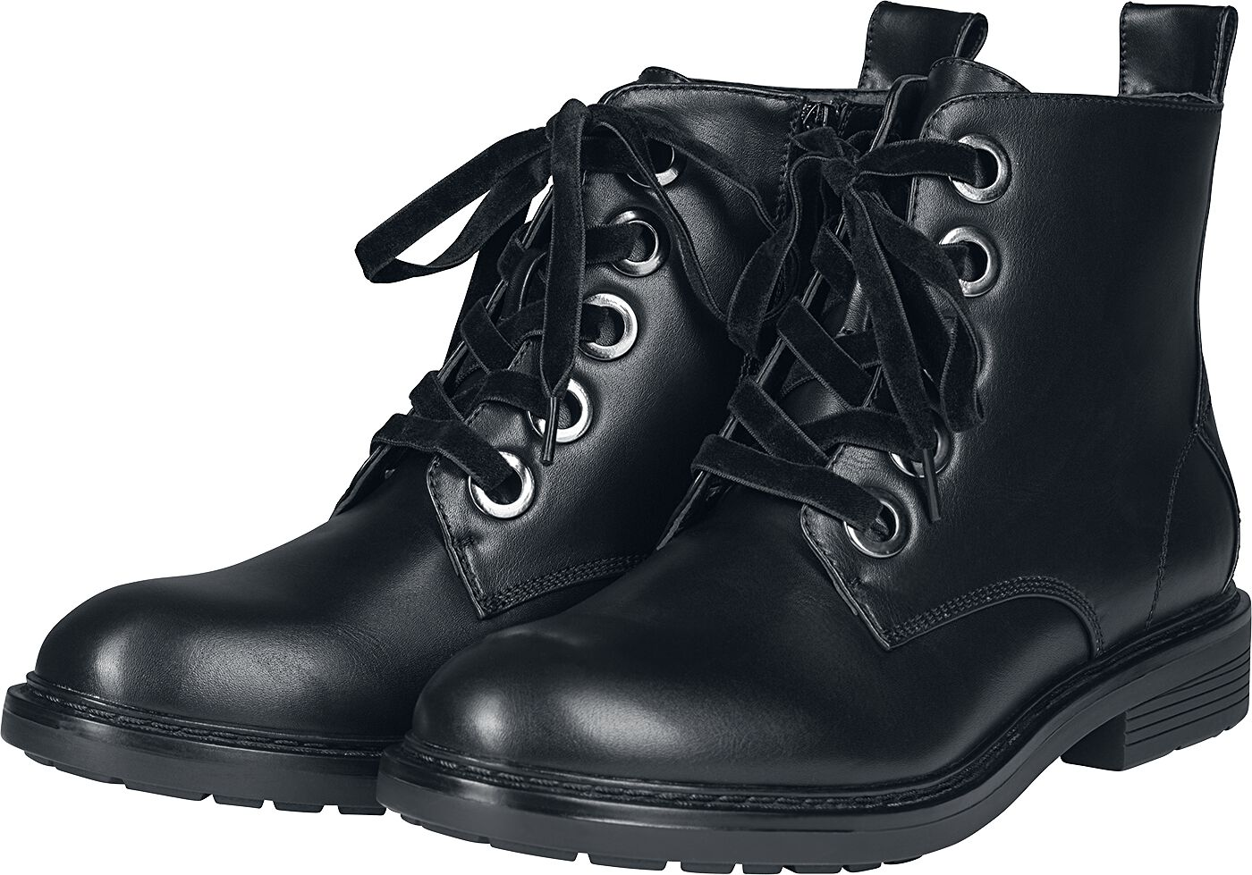 Stiefel - Urban Classics Velvet Lace Boot Boot schwarz  - Onlineshop EMP