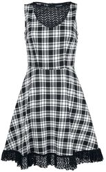 It's a Picnic Lace Trim Skater Dress