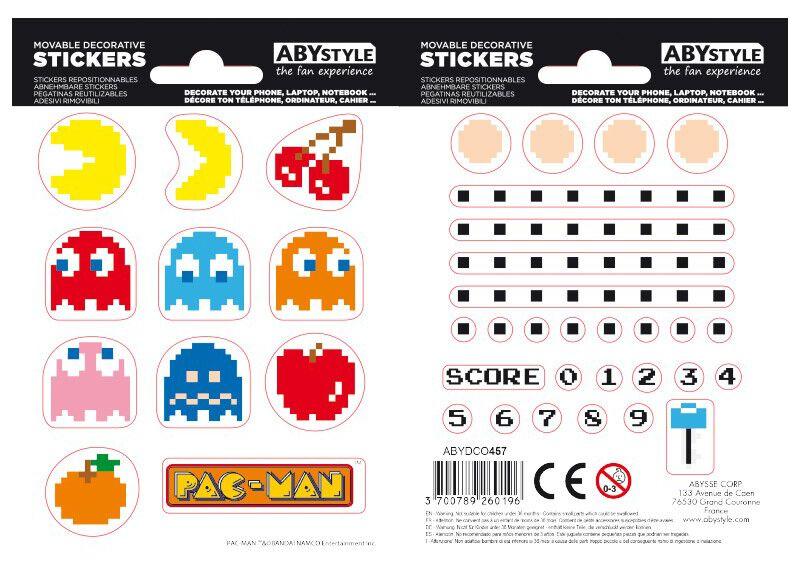 Image of Pac-Man Aufkleber-Set multicolor