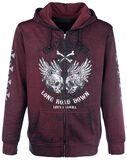 Hooded Burnout Jacket