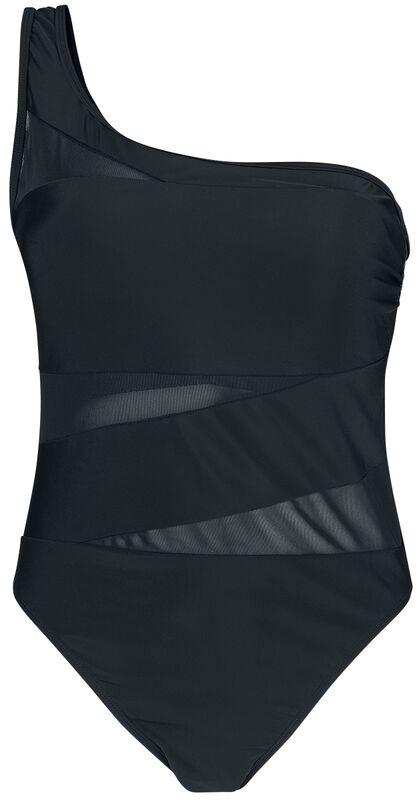Asymetric Tech Mesh Swimsuit