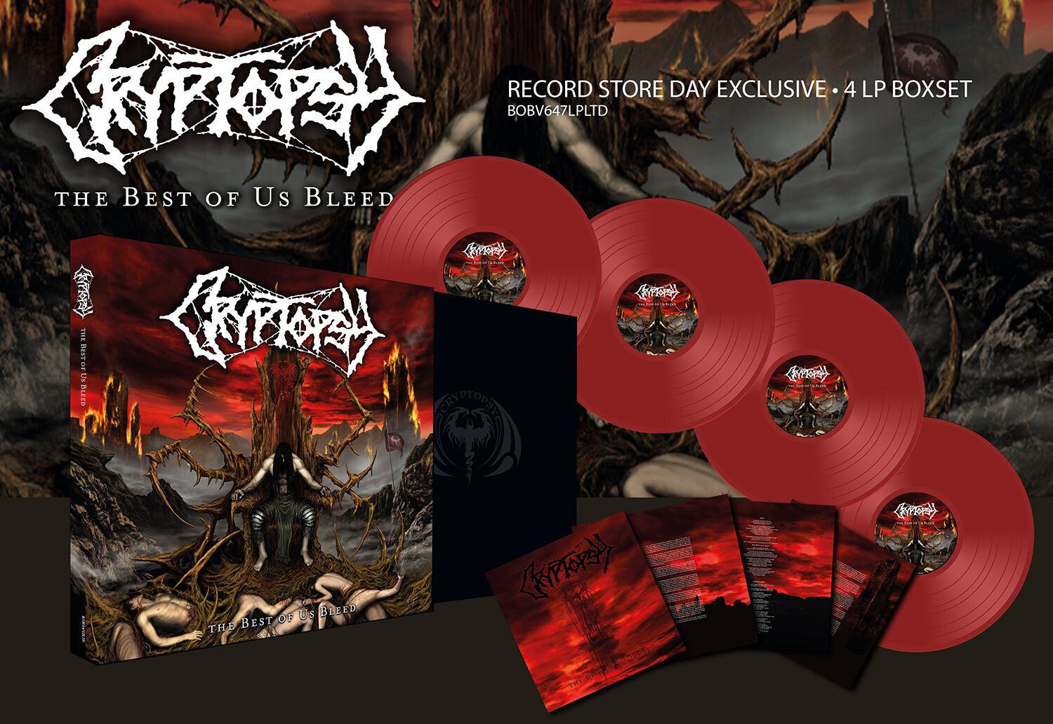 Image of Cryptopsy The best of us bleed 4-LP rot