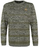 Men's Striped Knitted Sweater