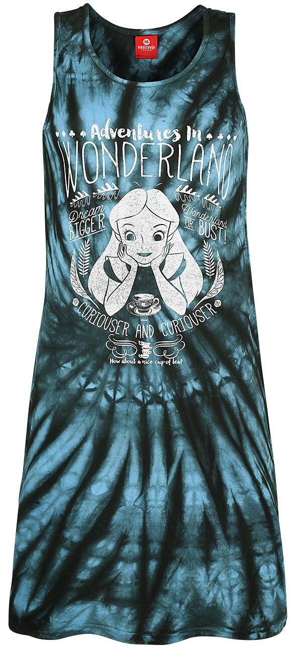 Image of Alice im Wunderland Adventures In Wonderland Kleid batik