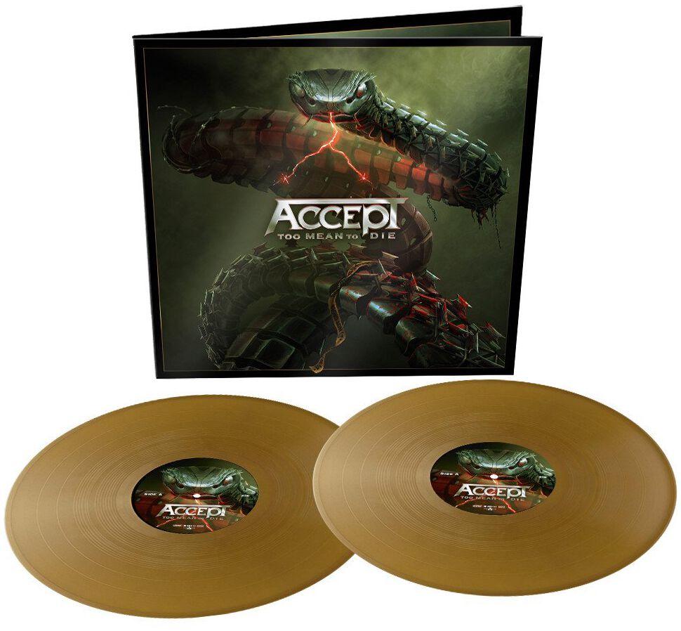 Image of Accept Too mean to die 2-LP goldfarben