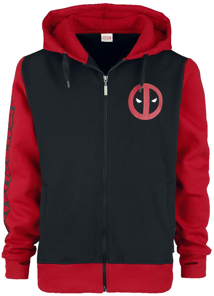 Deadpool -  - Hooded zip - black-red image