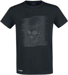 Schwarzes T-Shirt mit grauem Aufdruck
