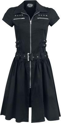 Black Emo Punk Long Dress