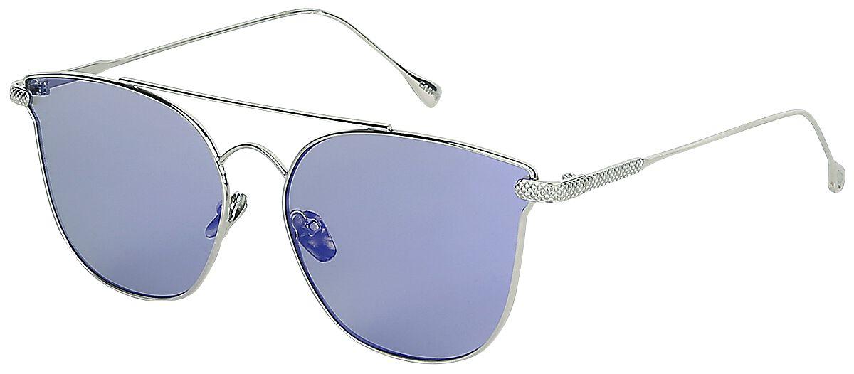 Sonnenbrillen - EMP Blue Space Sonnenbrille silber blau  - Onlineshop EMP