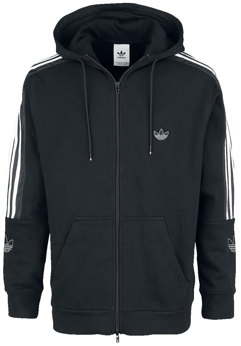 Adidas - Outline FZH FLC - Hooded zip - black image