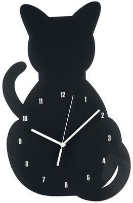 Acryl - Wanduhr Katze