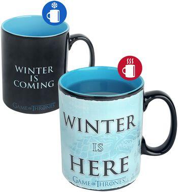 Winter is here - Tasse mit Thermoeffekt