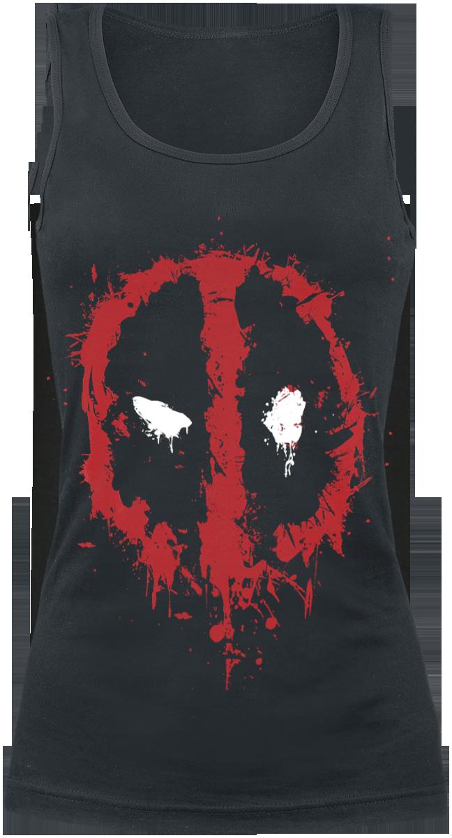 Deadpool - Splatter Logo - Girls Top - black image