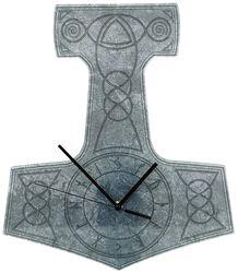Acryl-Wanduhr Thor's Hammer