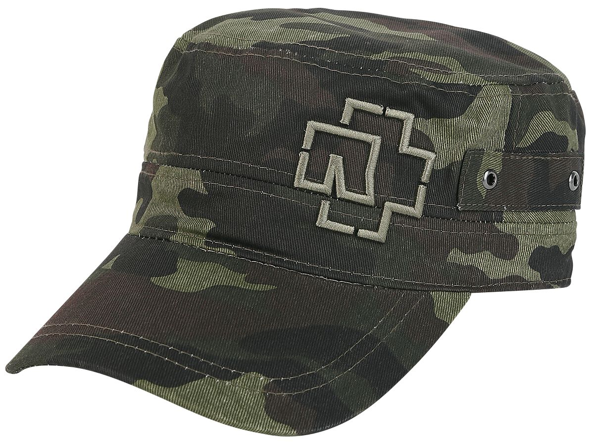 Image of Rammstein Outline Logo Army-Cap camouflage