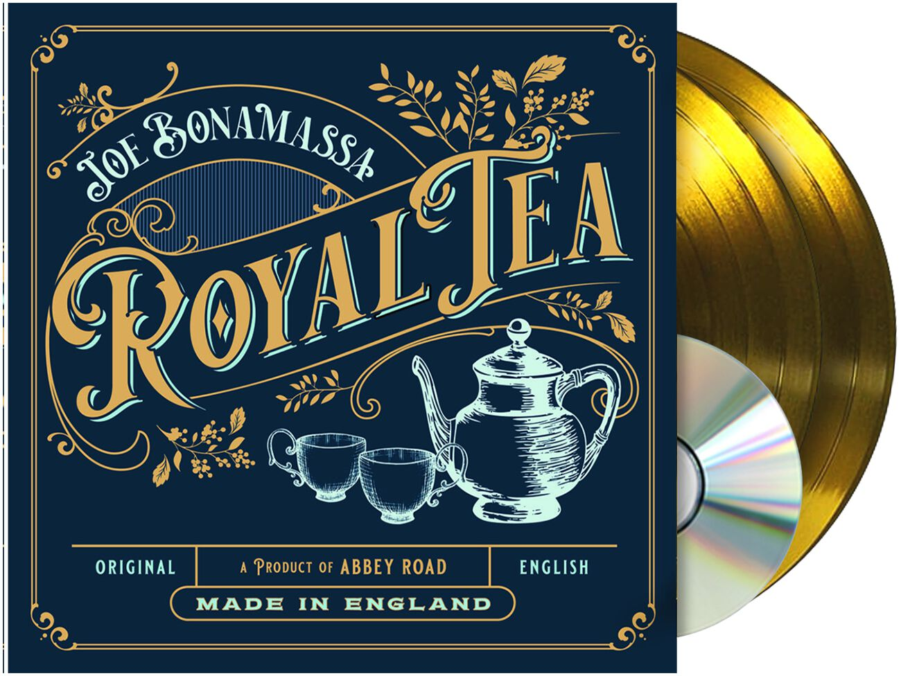 Image of Joe Bonamassa Royal tea 2-LP & CD goldfarben