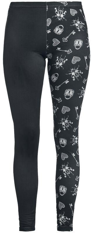 Schwarze Leggings mit Print