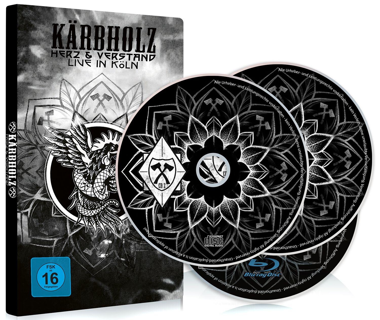 Image of Kärbholz Herz & Verstand - Live in Köln Blu-ray & 2-CD Standard