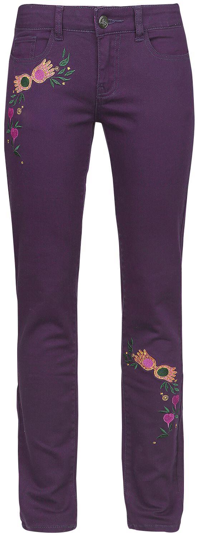 Hosen für Frauen - Harry Potter Luna Lovegood Dirigible Plums Jeans aubergine  - Onlineshop EMP