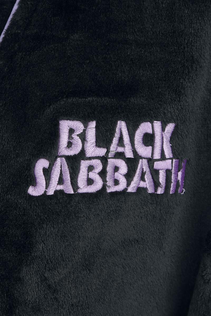 Image of Black Sabbath Logo Bademantel schwarz