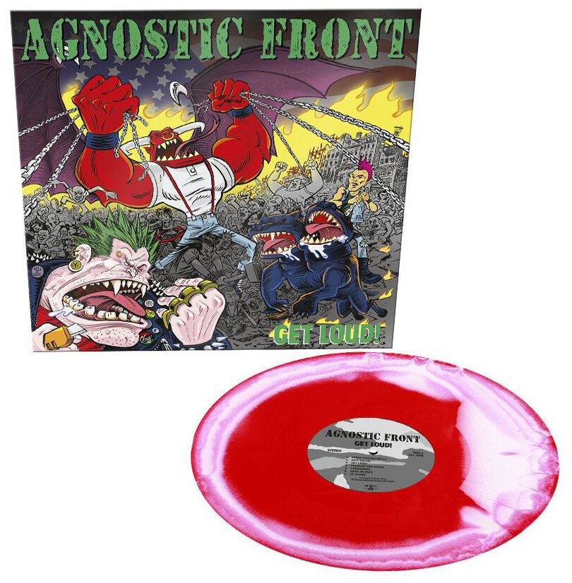 Image of Agnostic Front Get loud! LP rot/weiß
