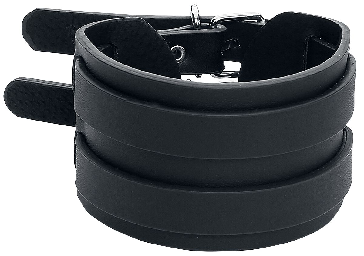 Image of Double Strap Bracelet Armband schwarz